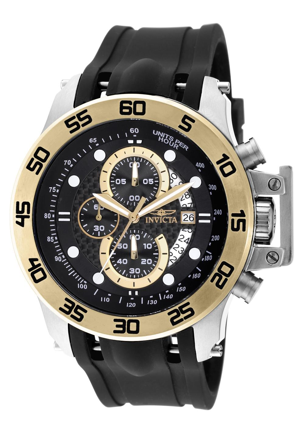 This watch features a stainless steel case and black silicone band with a buckle clasp. The stainless steel case features a black dial with luminous hands ...