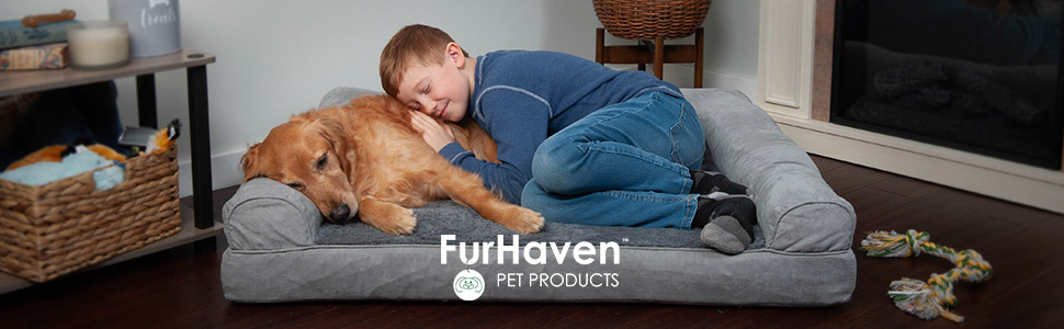 furhaven; pet products; company; logo; art; icon; dog; child