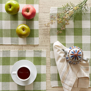 Checkered Green Placemats