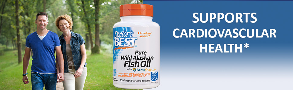 Pure Wild Alaskan Fish Oil cardiovascular health Omega-3 fatty acids cholesterol brain health vision