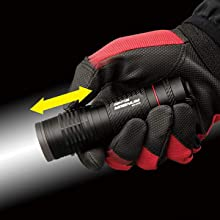 GENTOS ジェントス LED 懐中 電灯 明るさ 240ルーメン 実用 点灯 5時間 単4 形 電池 3本 使用 マグナム MG 843D ANSI 規格 準拠 転がり 防止