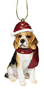 Design Toscano Beagle Holiday Dog Christmas Tree Ornament Xmas Decorations