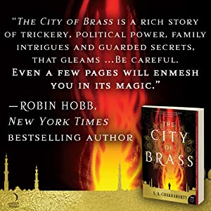 Quote by Robin Hobb endorsing City of Brass