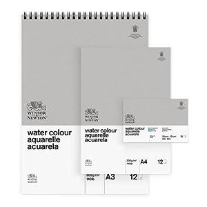 Block 4-seitig geleimt 20 Blatt 300g//m/² Feinkorn 25,4 x 35,6cm Winsor /& Newton Aquarellblock Professional