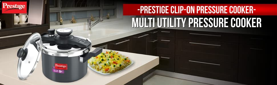 Prestige Clip On Pressure Cooker Multi Utility Pressure Cooker