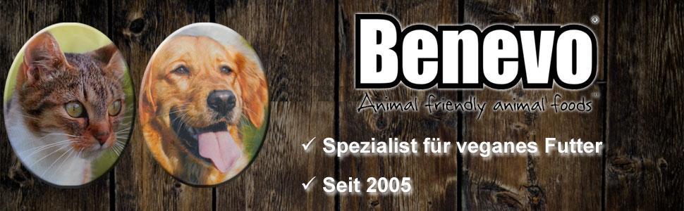 Benevo, Spezialist für veganes Tierfutter, für Hunde und Katzen