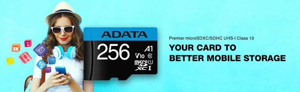 Premier microSDXC/SDHC UHS-I Class 10 memory cards