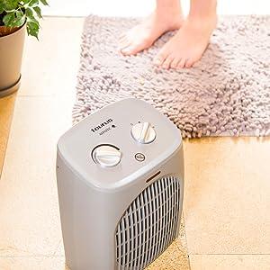 calefactor, calefacción, termoventilador, calefactor baño, aparato aire caliente baño, baño, taurus