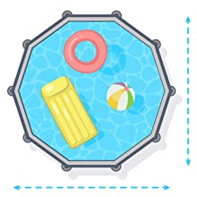 piscina sobre suelo, piscina circular, piscina Intex, piscina desmontable, piscina paneles madera
