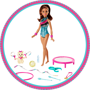 Buy Barbie Dreamhouse Adventures Spin N Twirl Gymnast Doll And Accessories Online At Low Prices In India Amazon In