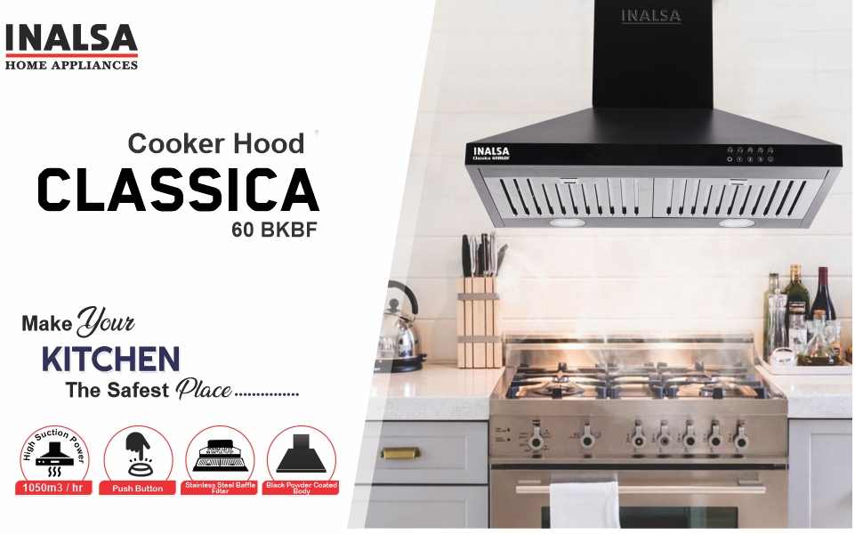 inalsa, classica 60bkbf, suction 1050 m3/hr, black powder coated body, push button control,