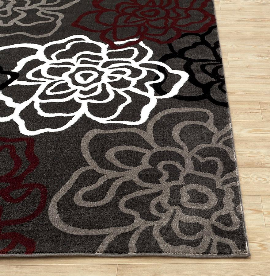 Rugshop Contemporary Modern Floral Flowers Area Rug 3 3