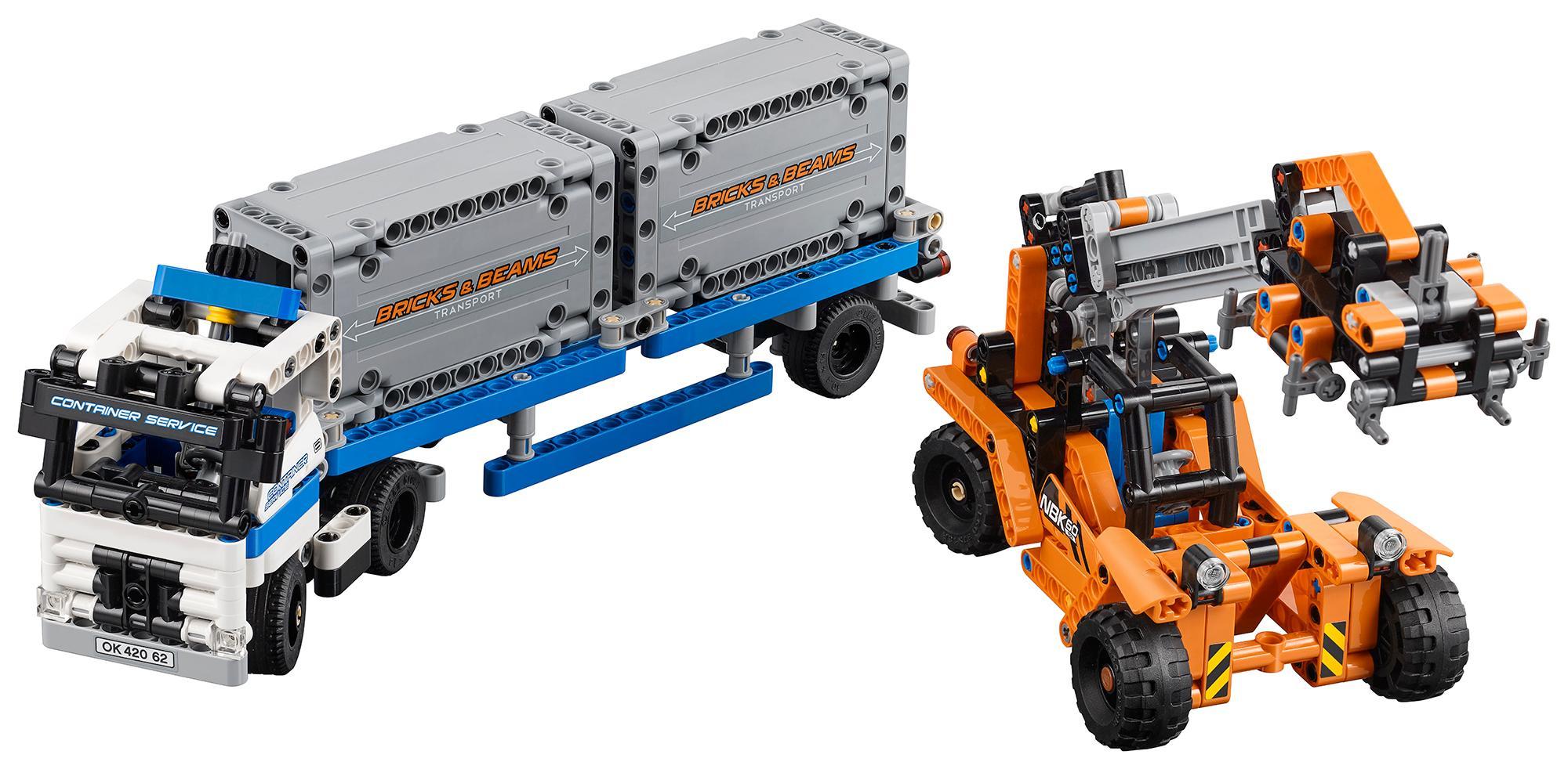 LEGO Technic 42062 - Container Transport: Amazon.de: Spielzeug