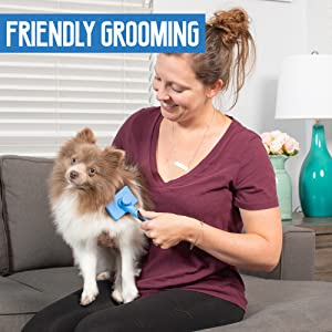 Pet Craft Supply Self Cleaning Slicker Pet Grooming Brush for Dogs and Cats Friendly grooming