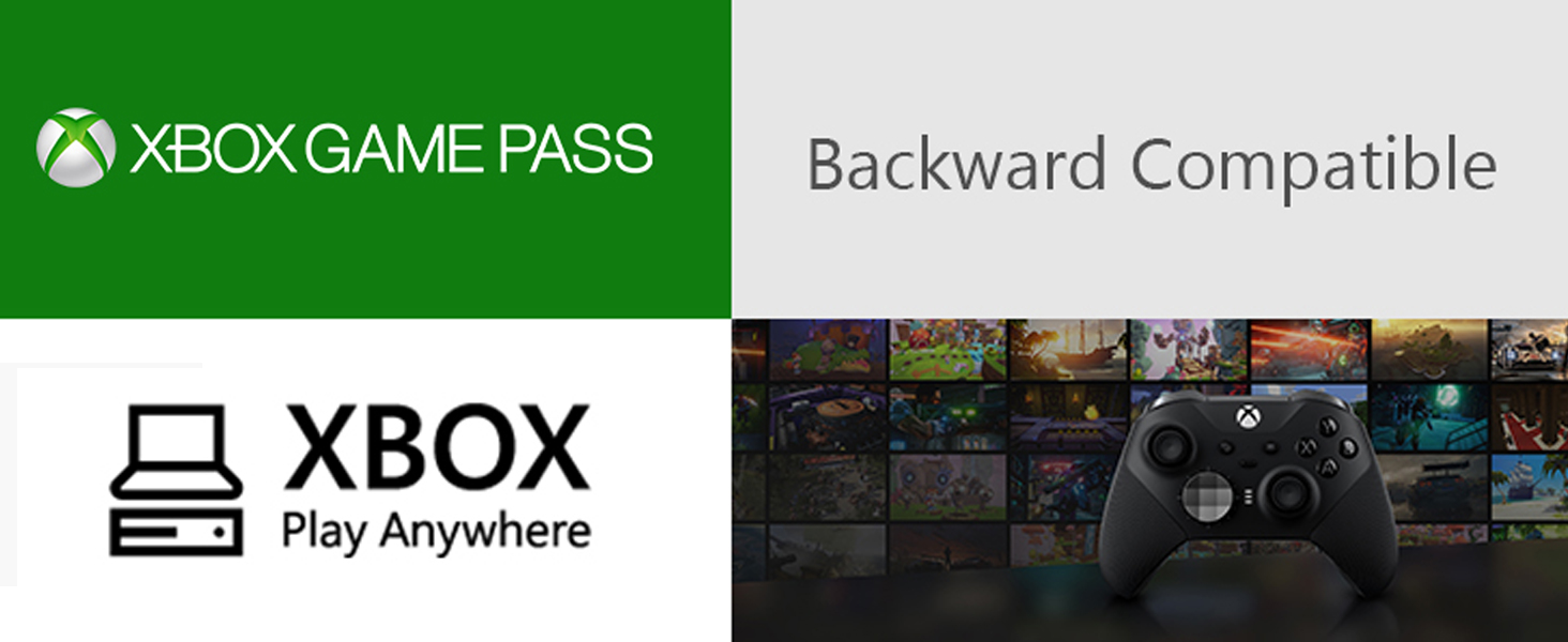 Xbox Game Pass rétrocompatibilité  manette elite play anywhere