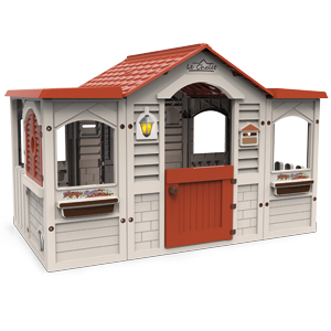 casita; le chalet, chalet, casa, casita, casa de jardín, casa infantil, casita infantil,