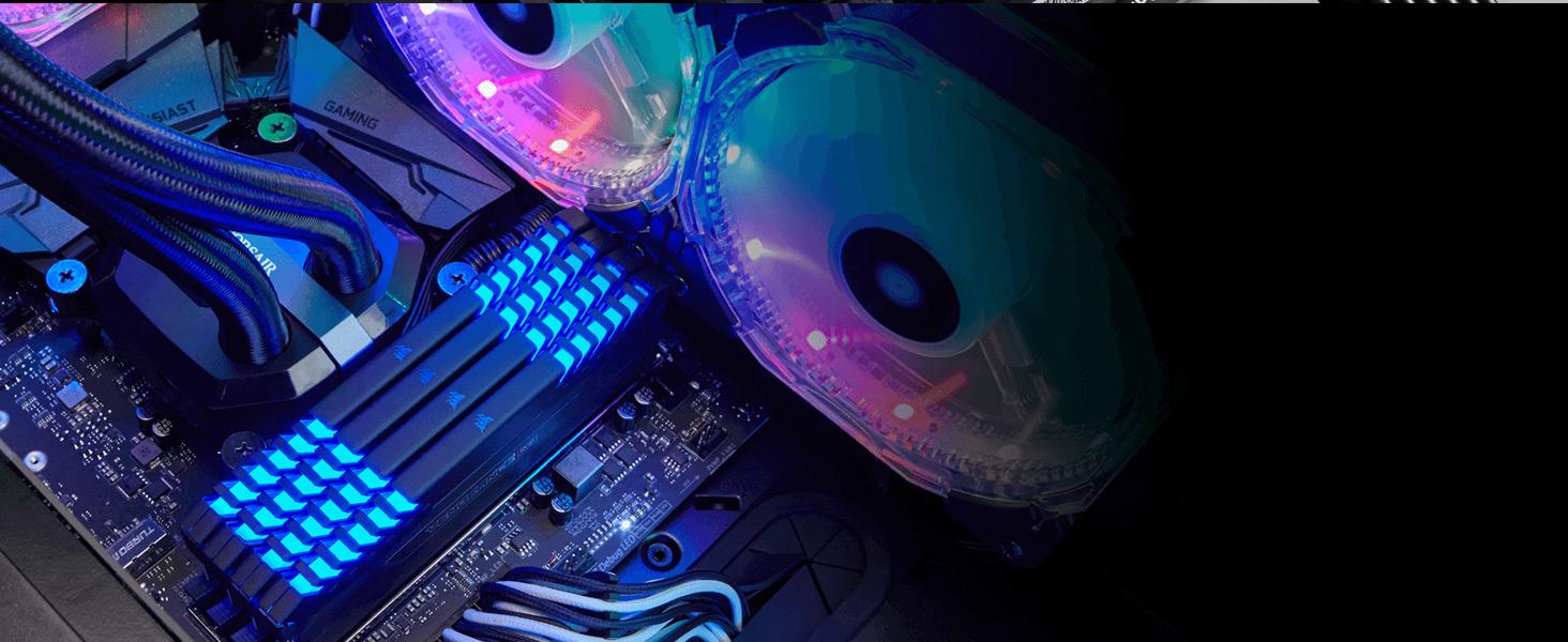 CMR32GX4M4D3000C16 VENGEANCE RGB 32GB (4 x 8GB) DDR4 DRAM 3000MHz C16 Memory Kit
