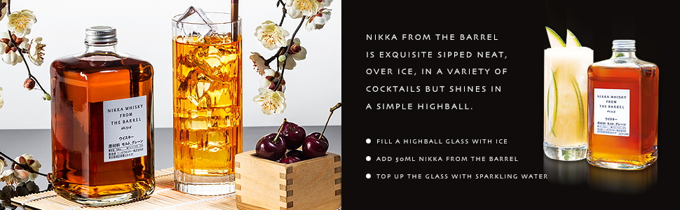 Nikka whisky highball and perfect serve