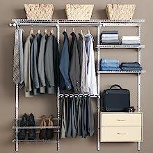 closet configuration kit rubbermaid shelving shelves