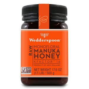Wedderspoon Raw Premium Manuka Honey KFactor 12, 8 8 Oz, Unpasteurized,  Genuine New Zealand