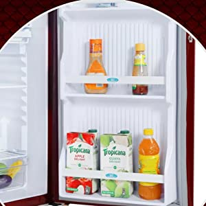 godrej fridge cooling red