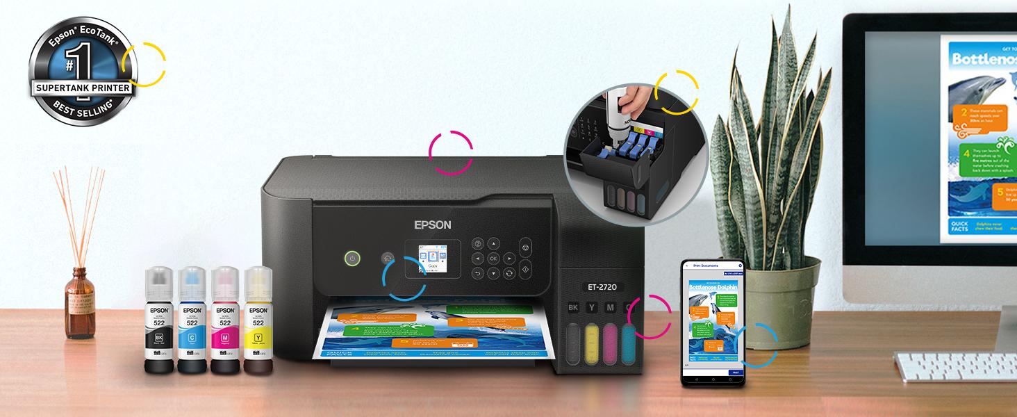 et-2720, ecotank, supertankprinter, shaq, supertank, ecotank bottle ink, home printer