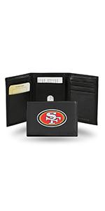 wallet,mens wallet,wallet for women,wallet for men,leather wallet,NFL,49ers,San Francisco 49ers