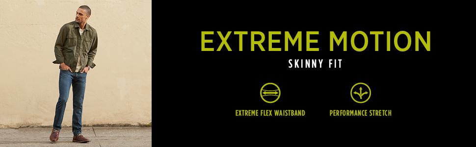 Lee Men's Performance Series Extreme Motion Skinny Fit Skinny Leg Jean