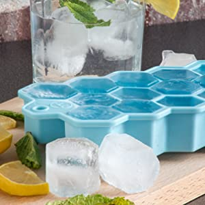 large hex tray; silicone ice cube tray; hexagon ice cube mold; hexagon ice tray; silicone hexagon