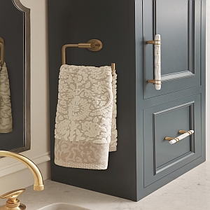 gold towel ring,marble cabinet pulls,amreock arrondi,amerock carrione,modern hardware