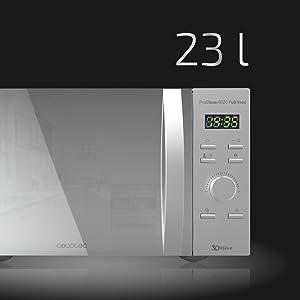 Cecotec Microondas con Grill ProClean 6120. Capacidad de 23l ...