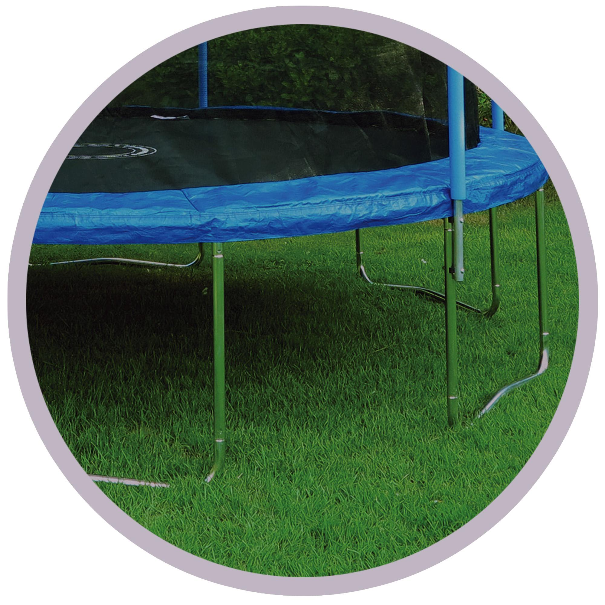Trampoline Springs B Q: Trainor Sports 12-feet Round Trampoline & Enclosure Combo