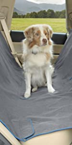 kurgo heather dog hammock, pet car seat covers, dog car seat hammock, car door dog cover