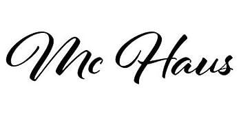 Mc Haus Cyril Sillón de Oficina, Poliuretano, Negro, 49x63x125 cm ...