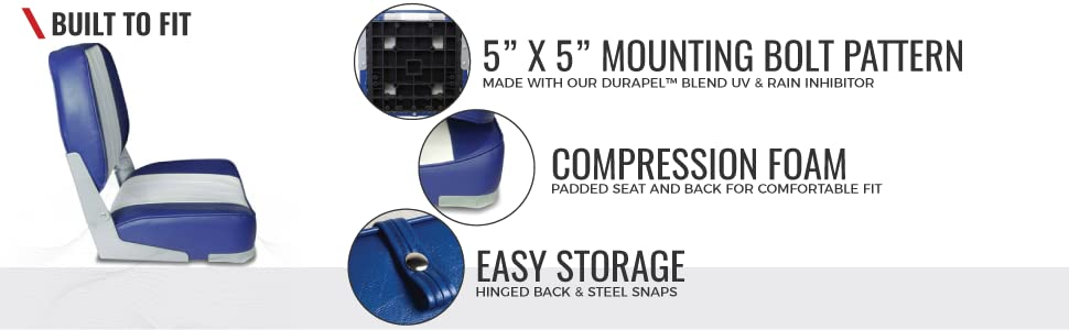 Wake replacement boat seats for boats and pontoons waterproof marine grade quality