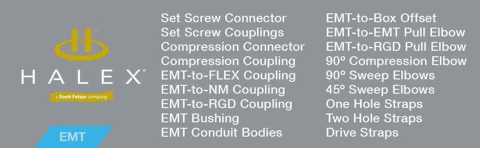 Halex 90372 EMT//BOX SET SCREW OFFSET CONNECTOR EACH 3//4 Silver Jensen Home Improvement