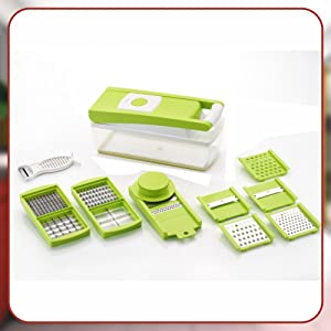 12 Cutting Blades (14 functions in one), Green
