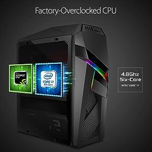 ROG Strix Gaming Desktop GL12CM , Overclocked Intel Core i7-8700K, NVIDIA GeForce GTX, VR READY