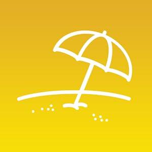 Umbrella in the sand - Neutrogena Beach Defense Sunscreen protects against beach elements