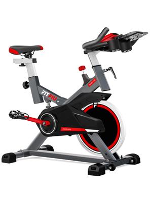 FITFIU Fitness BESP-100 Bicicleta indoor con disco de inercia de 16kg y resistencia regulable, Bici de entrenamiento fitness con sillín ajustable, pulsómetro y pantalla LCD: Amazon.es: Hogar