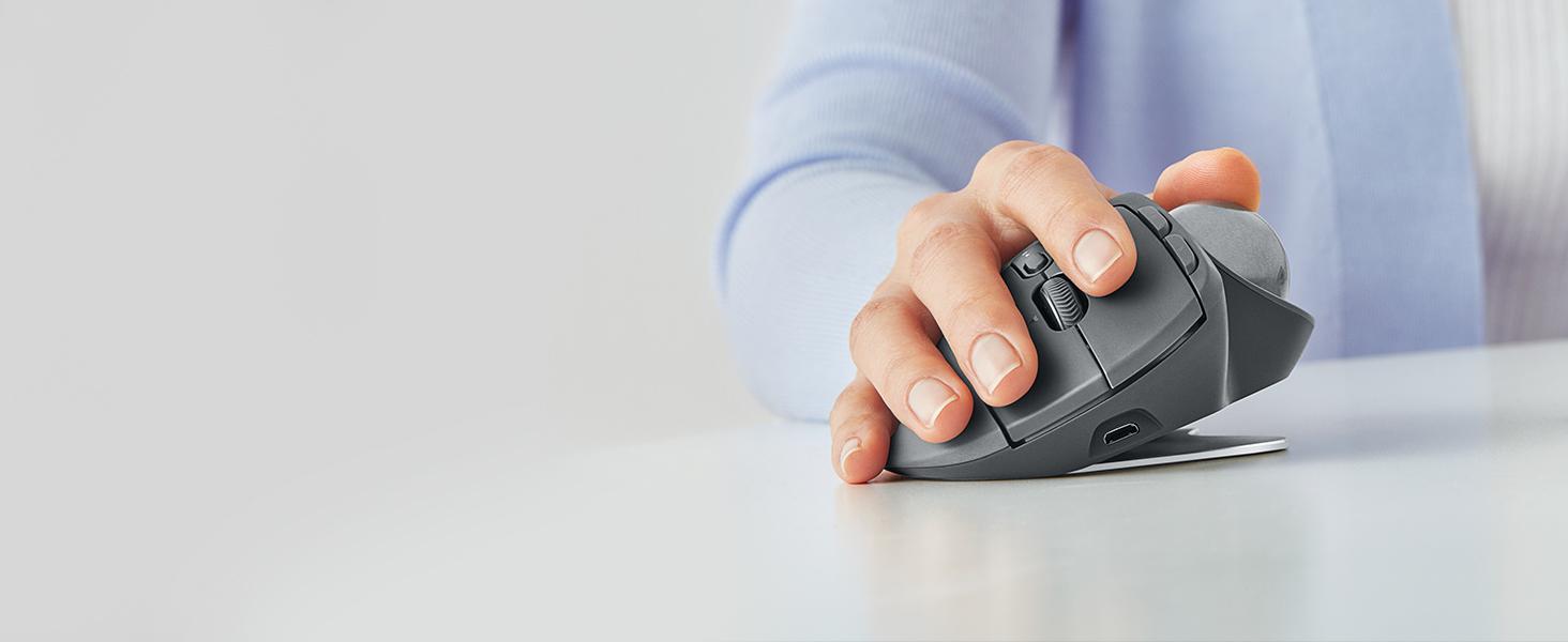 Logitech Mx Ergo Wireless Trackball Mouse Adjustable Door Lock Wiring Diagram Mah 4000 Aww Comforts New Angle