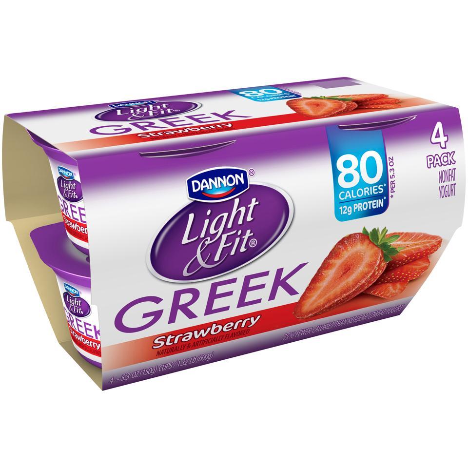 Amazing Dannon Light U0026 Fit Blended Greek Nonfat Yogurt