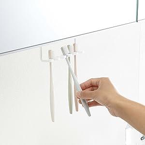 山崎実業  洗面戸 棚下 歯ブラシホルダー タワー ホワイト 5006