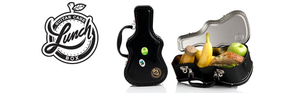 Tin lunchbox guitar shaped