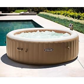 Amazon.com: Intex 85en PureSpa: Set de spa portable de ...