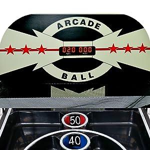 Arcade ball scoreboard
