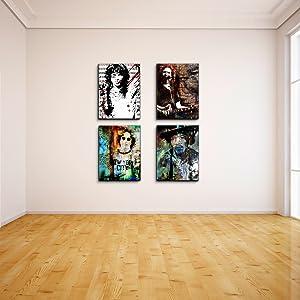 Rock Musician Multi Panel Wall Art
