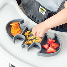 silicone kids plate batman