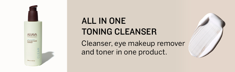 AHAVA, All in one, toning cleanser, cleanser, toner, minerals,Dead Sea, remover