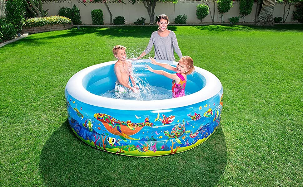 Piscina Hinchable Infantil Bestway Play Acuario 196x53 cm: Amazon ...